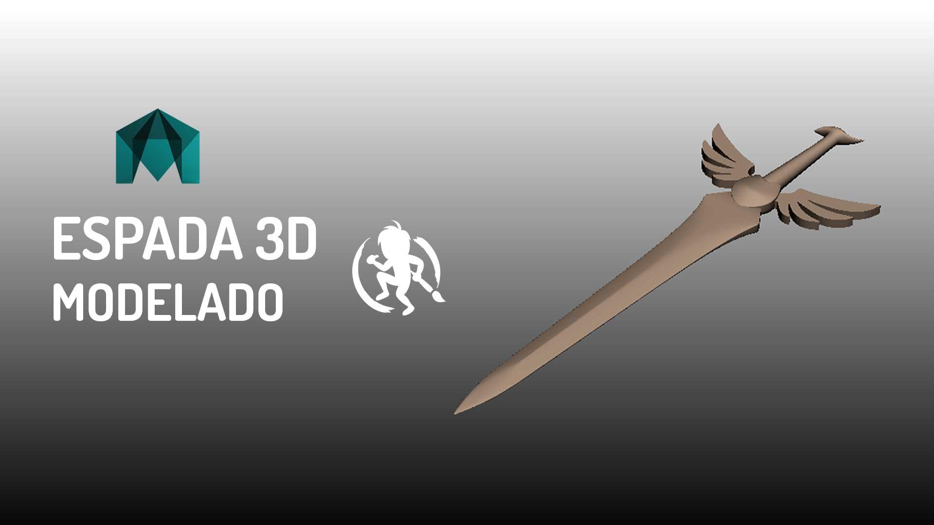 Como hacer una Espada 3D en Autodesk Maya
