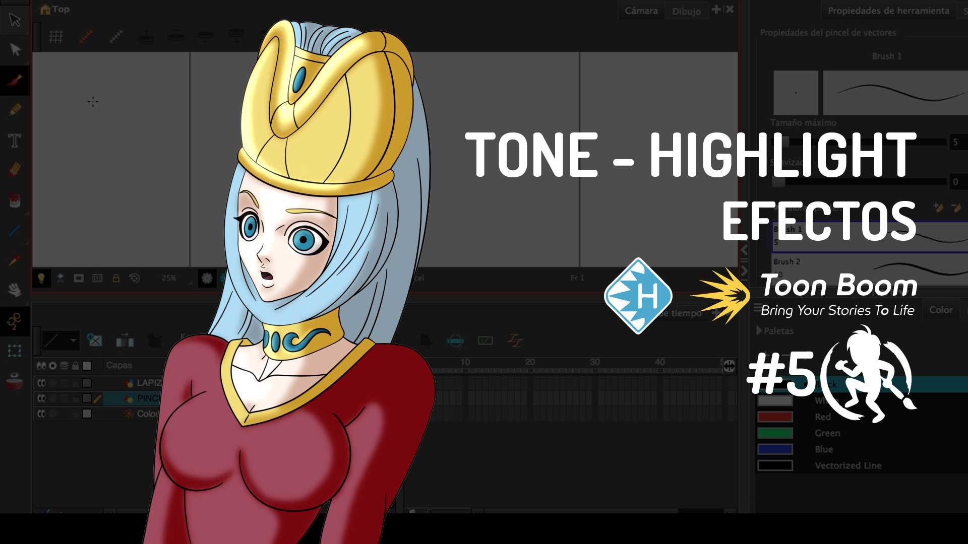 Efecto Tone y Highlight en Toon Boom Harmony