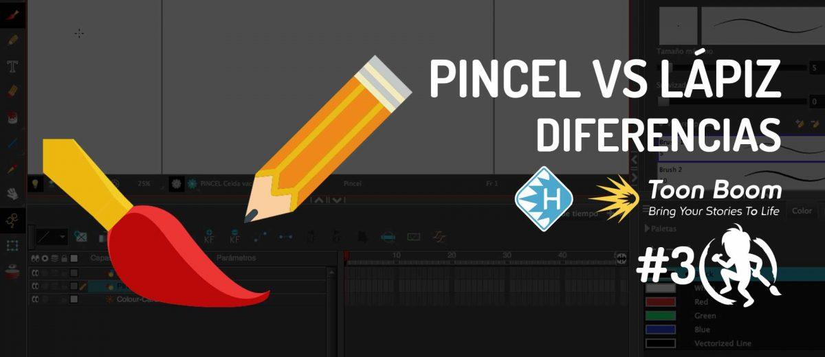 Pincel vs Lápiz en Toon Boom Harmony