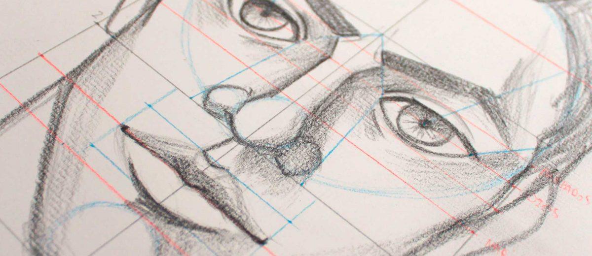 Como dibujar el rostro masculino