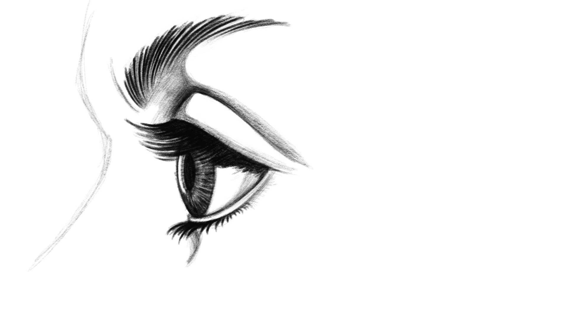 Como dibujar paso a paso el ojo humano | Kevin Farias
