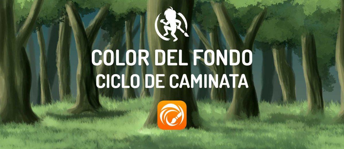 Color del fondo del ciclo de caminata