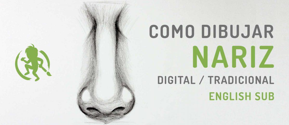 Como dibujar una nariz paso a paso