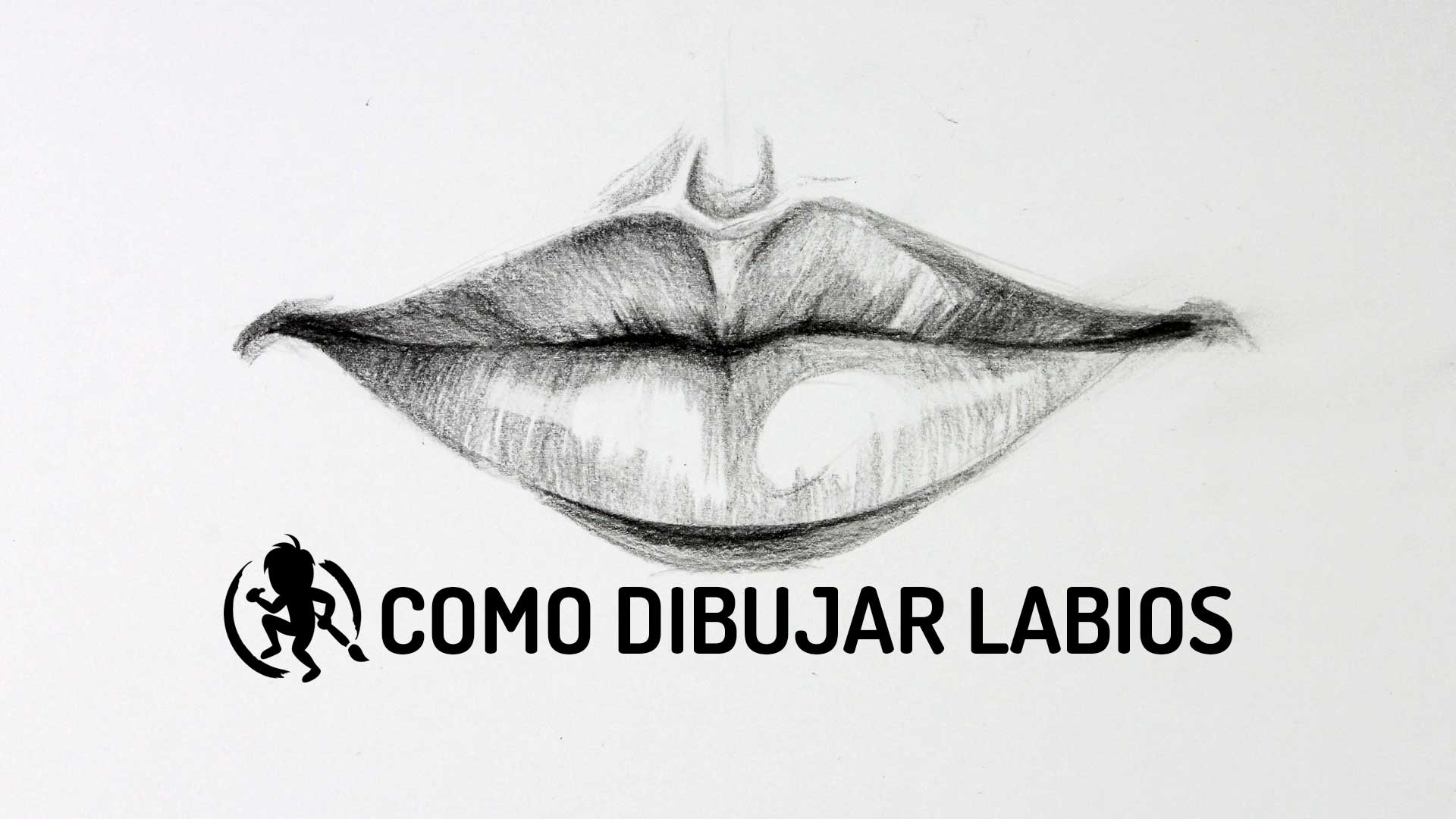 Como dibujar labios de frente