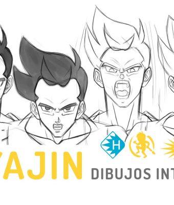 Dibujos Intermedios de la Animación del Super Saiyajin