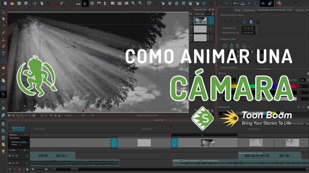 Como animar una cámara en Storyboard Pro