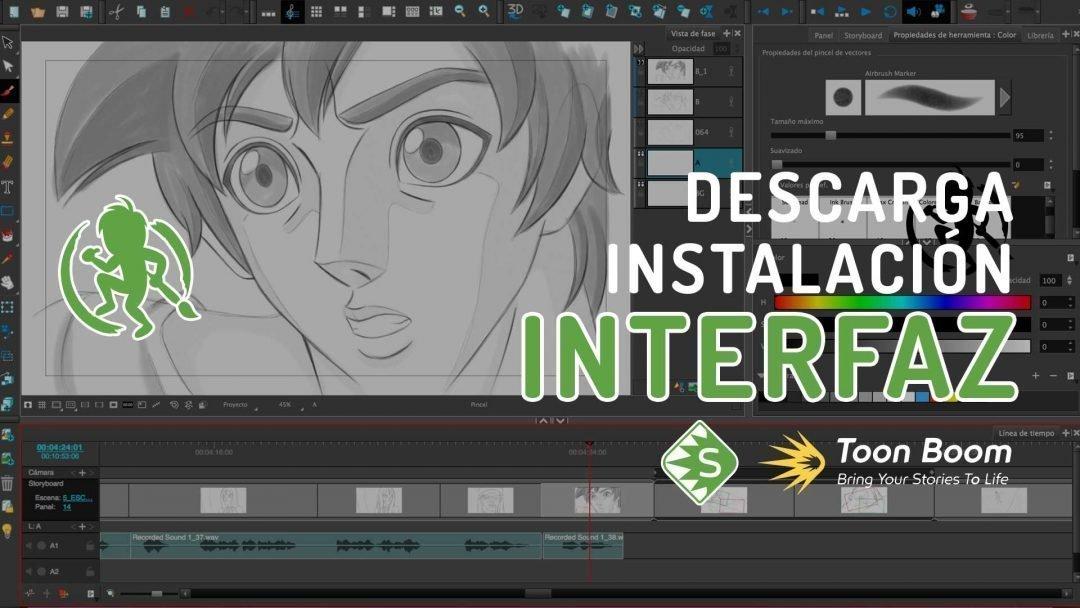 Como descargar e instalar y la interfaz de Storyboard Pro