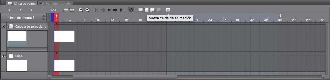 Nueva Celda de Animación en Clip Studio Paint