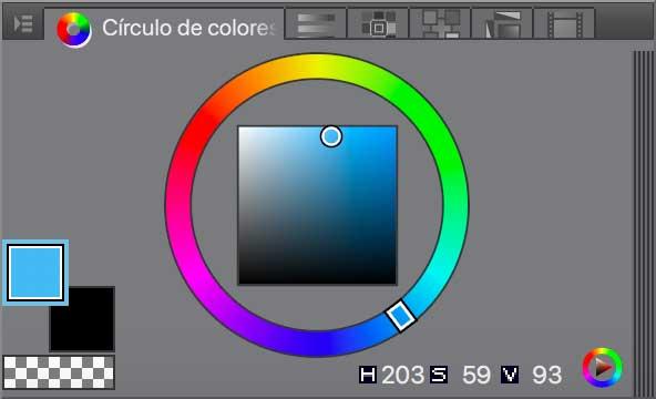 Circulo de Colores en Clip Studio Paint