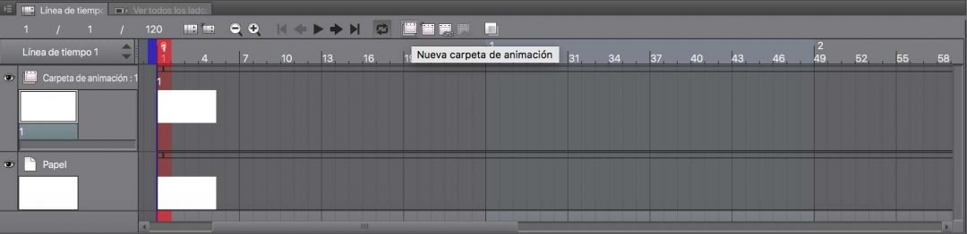Nueva Carpeta de Animación en Clip Studio Paint