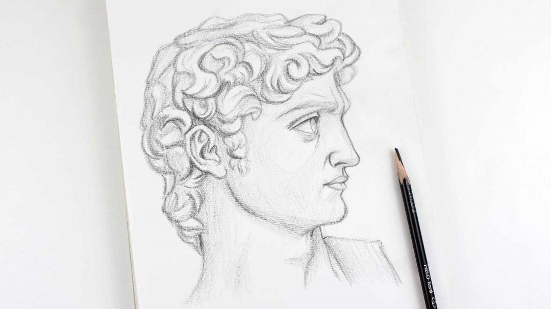 Dibujo de la cabeza de David