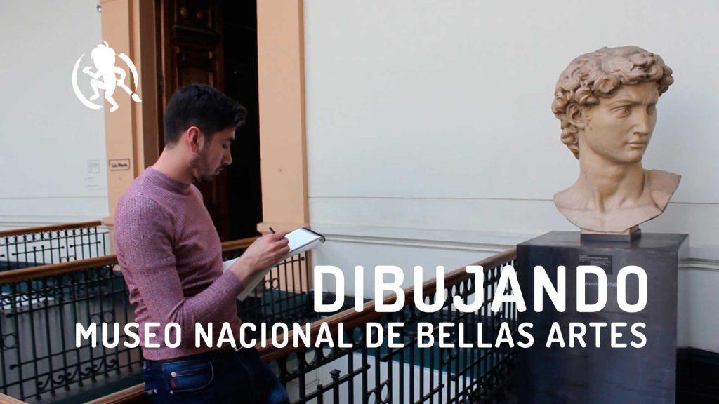 Dibujando en el museo Nacional de Bellas Artes