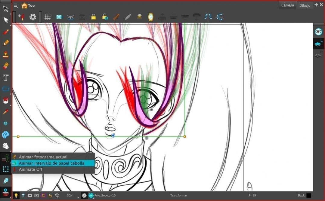 Animar intervalo de papel cebolla - Toon Boom Harmony