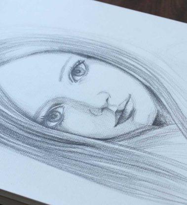 Dibuja el rostro femenino