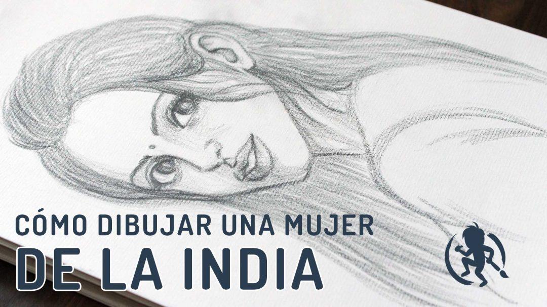Como dibujar una mujer de la India