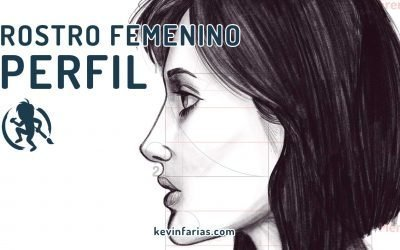 Como dibujar el rostro femenino de perfil