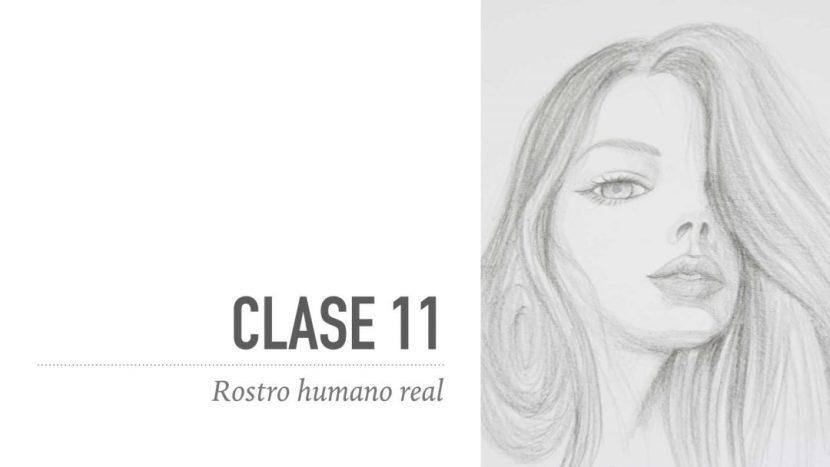 Dibuja un rostro femenino real
