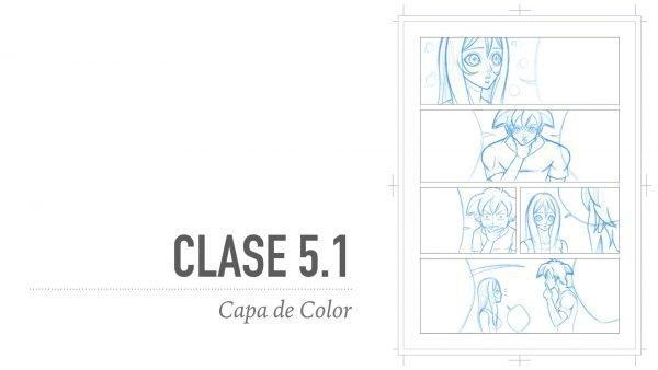 Capa de Color de la Página del Manga