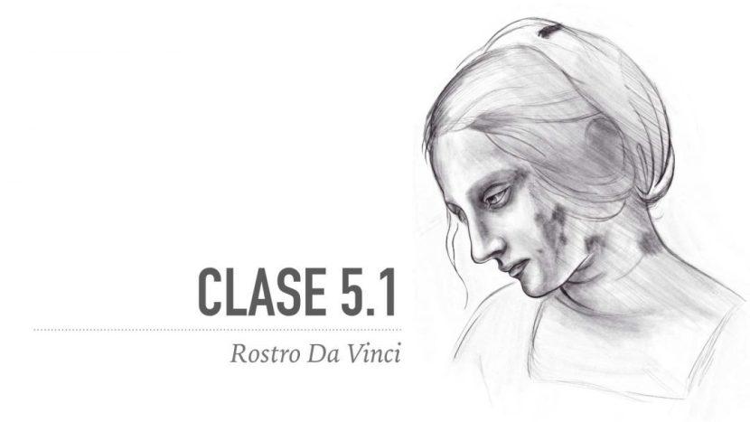 Dibuja un rostro femenino de Da Vinci