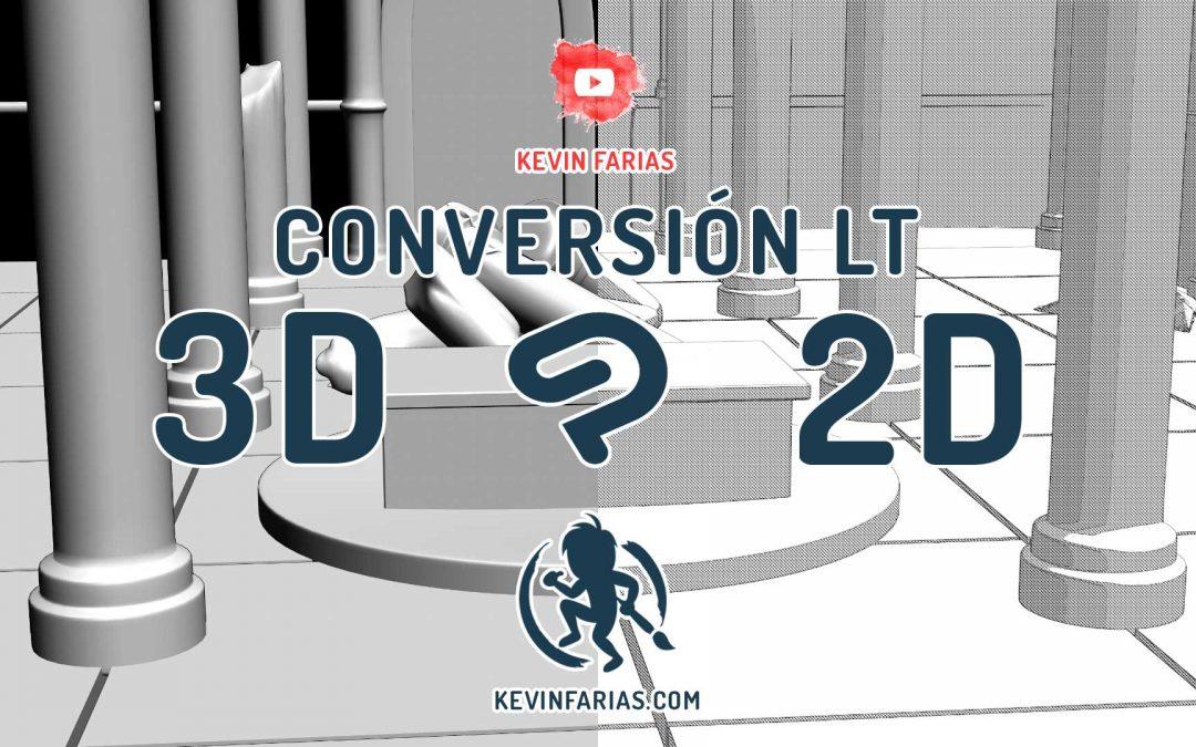 Convierte el 3D en 2D en Clip Studio Paint