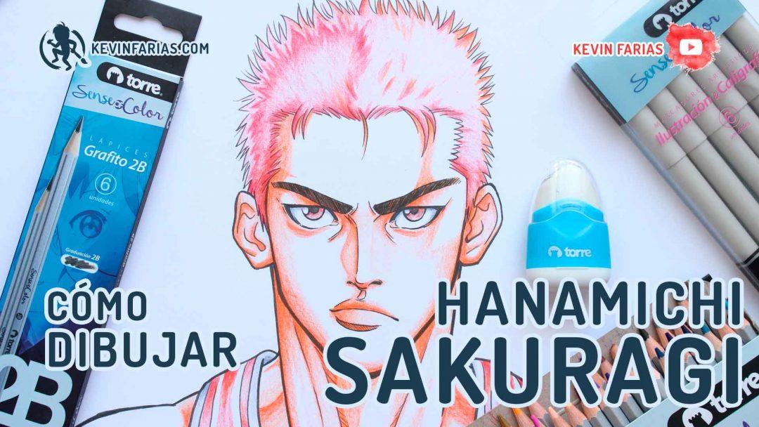 Como dibujar y pintar a Hanamichi Sakuragi