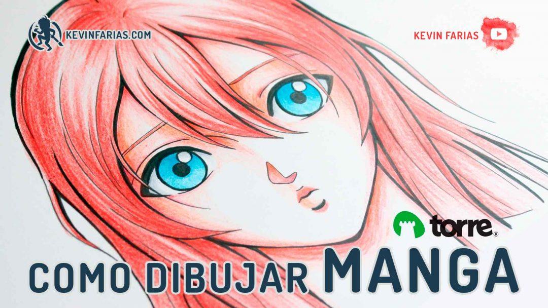 Como dibujar y pintar un rostro estilo Manga