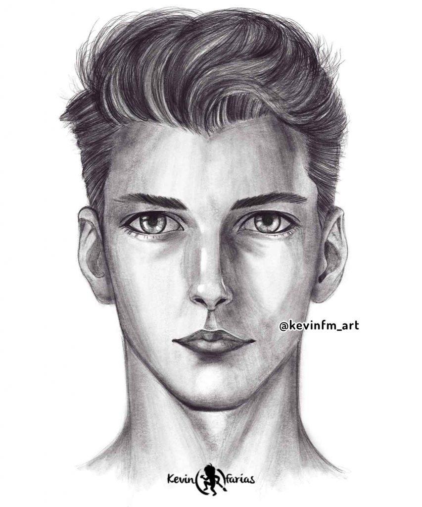 Como dibujar el rostro masculino avanzado