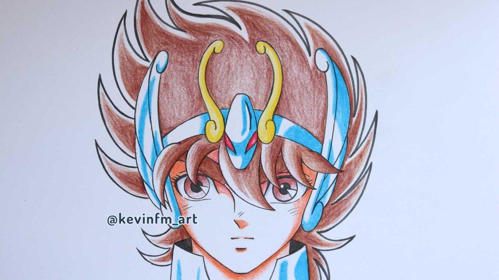 Como dibujar a Seiya de Pegaso
